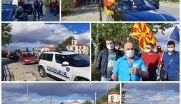 Мото протест за поддршка на суспендираните полицајци од Битола