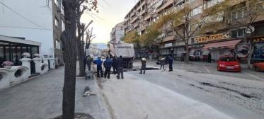 """""""Водовод"""" во рекордно време ја заврши реконструкцијата на водоводната мрежа на улицата """"Димитар Илиевски Мурато"""""""