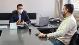 Илиевски домаќин на министерот Хоџа, после долг период министер во посета на подрачната единица во Битола