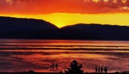 Огнено зајдисонце во Преспа