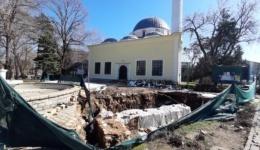 Нови остатоци од црква и три гроба пронајдени во дворот на Јени џамија
