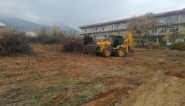 Се подготвува теренот за модуларен Ковид центар во дворот на Клиничката болница во Битола